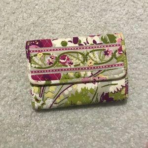 Vera Bradley Wallet Floral Green Pink